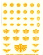 Dark Angels yellow small Transfer Sheet Warhammer 40,000 decals (1989)